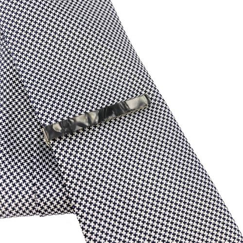 Grey Marble Effect Tie Clip