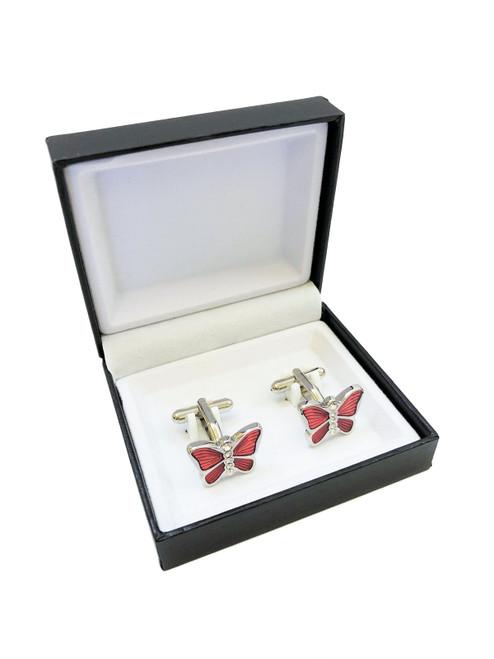 Butterfly Metal Cufflinks