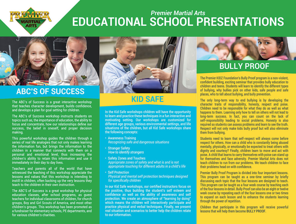 *NEW!! PMA Educational School Programs Brochure
