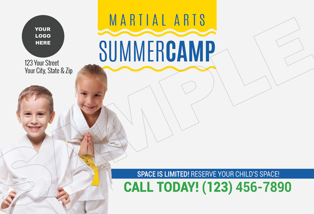 *NEW!! Martial Arts Summer Camp Wavy V1