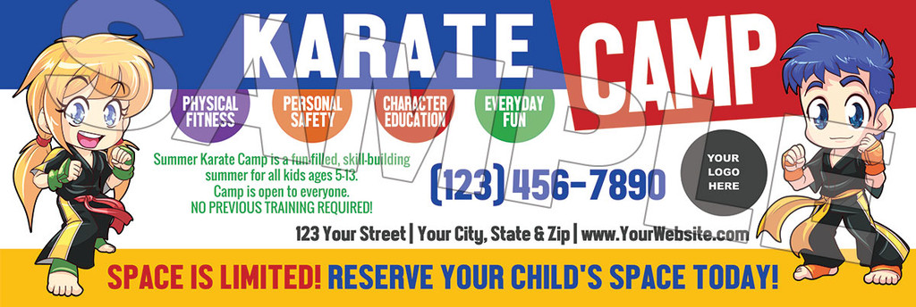 **NEW!! Karate Camp V1 Vinyl Banner