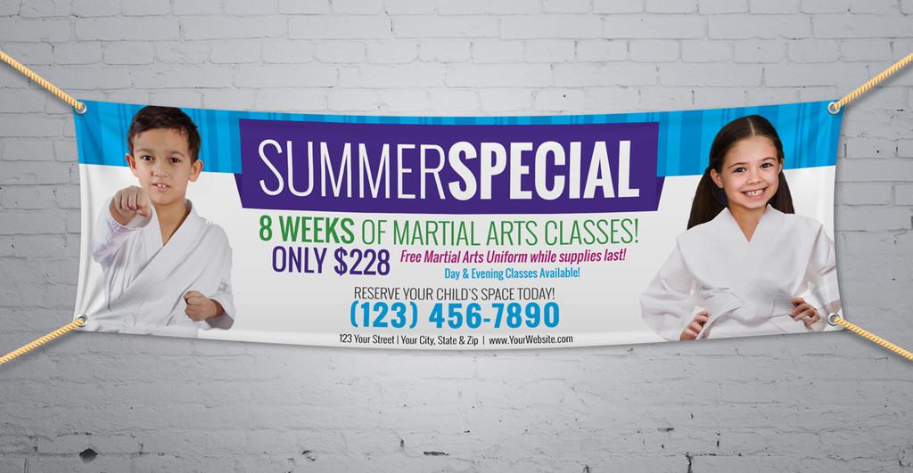 **NEW!! Martial Arts Summer Special V2 Vinyl Banner