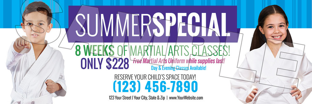 **NEW!! Martial Arts Summer Special V2 Vinyl Banner