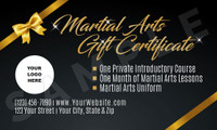 Sleek Martial Arts Holiday Gift Certificate