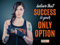 Believe Success is Your Only Option KrushBox Poster