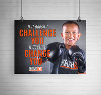 Challenge You Change You KrushBox Poster