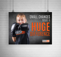 Small Changes Make a Huge Difference KrushBox Poster