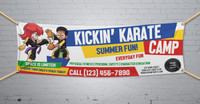 **NEW!! Kickin' Karate Camp V1 Vinyl Banner