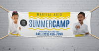 **NEW!! Martial Arts Summer Camp V3 Vinyl Banner