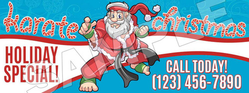 **NEW!! Santa's Karate for Christmas Vinyl Banner