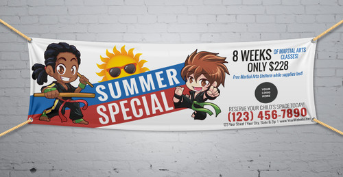 **NEW!! Martial Arts Summer Special V1 Vinyl Banner