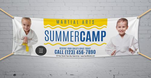 **NEW!! Martial Arts Summer Camp V2 Vinyl Banner