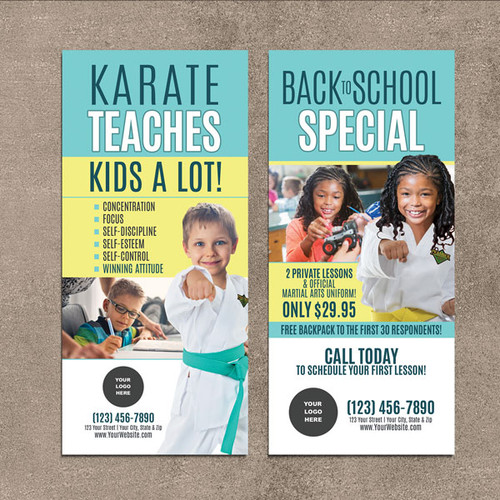 NEW!! Karate Teaches V5 Rack Cards