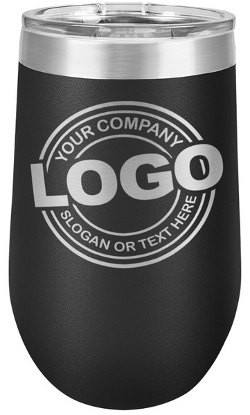LOGO ONLY or Text 16oz Wine