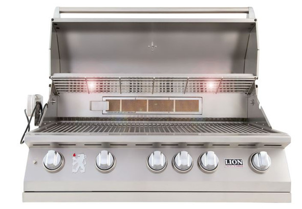 Lion 90814 Or 90823 40-Inch Stainless Steel Built In Propane Or Natural Gas Grill