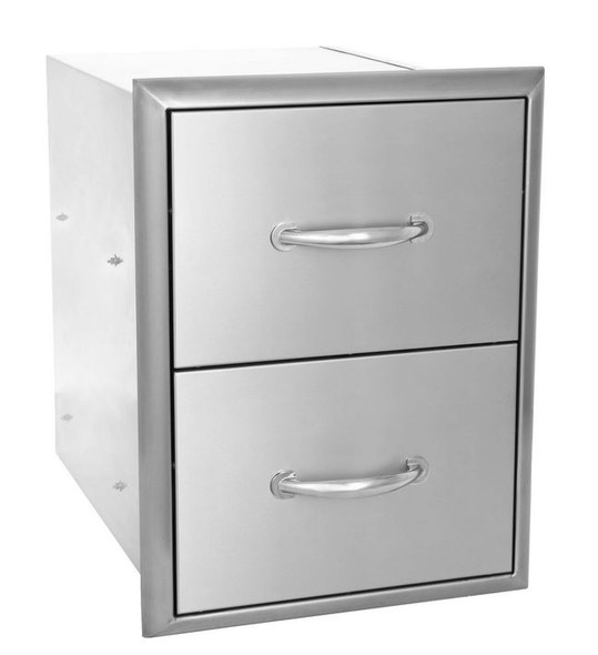 Blaze BLZ-DRW2-R 16 Inch Double Access Drawers