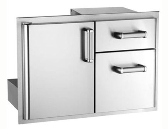 Fire Magic 53810SC Premium Flush Mount 30-Inch Access Door & Double Drawer Combo