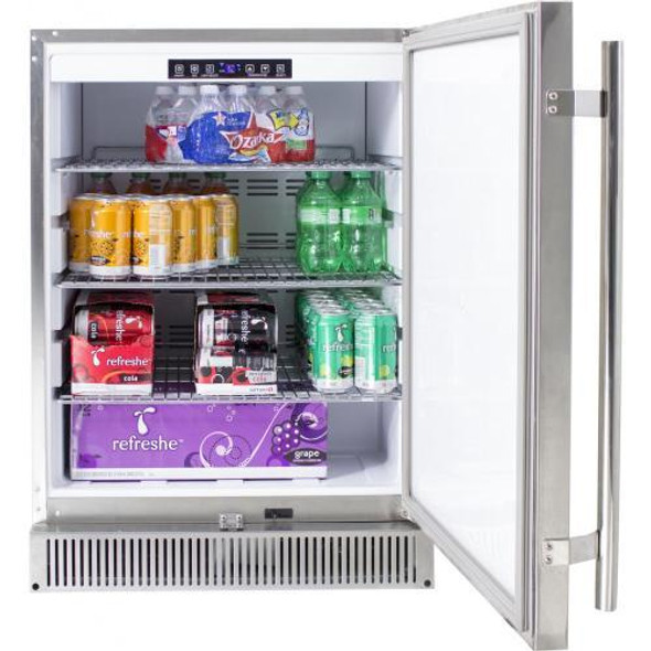 Blaze BLZ-SSRF-50DH 24 Inch Outdoor Rated Stainless Steel Refrigerator 5.2 CU FT.-UL Approved