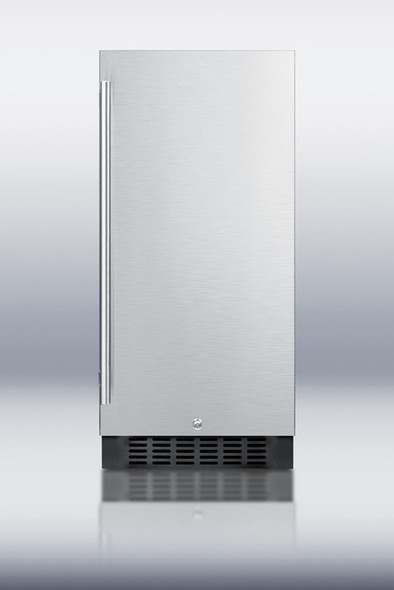 """Summit SPR316OS 3.3 Cu. Ft 14"""" Wide Stainless Steel/Black Cabinet Beverage Refrigerator Fits Small Spaces!"""