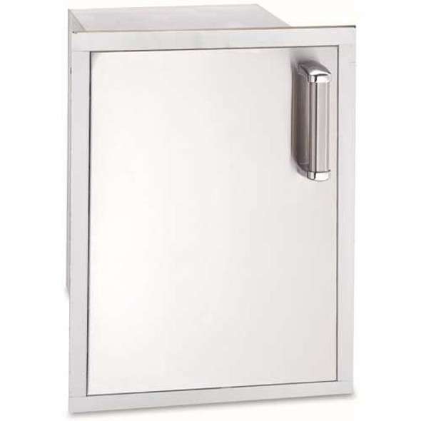 Fire Magic 53820SC-L Premium Left Hinged Flush Mount 14 Inch Single Door W/Dual Drawers
