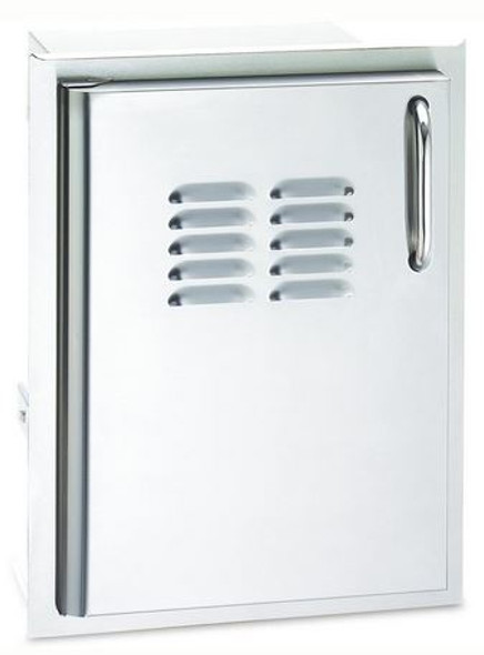 AOG 20-14-SSDLV 14 Inch Left Hinged Single Vertical Access Door With Tank Tray And Louvers