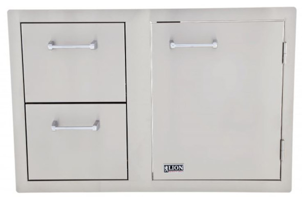 Lion L3320 33-Inch Access Door & Double Drawer Combo