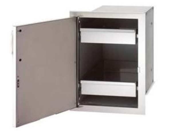 Fire Magic 33820-SL Select 14 Inch Left-Hinged Single Door With Dual Drawers