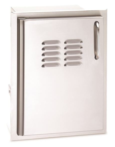 Fire Magic 33820-TSL Select 14 Inch Left Hinged Single Access Door With Propane Tank Tray and Louvers