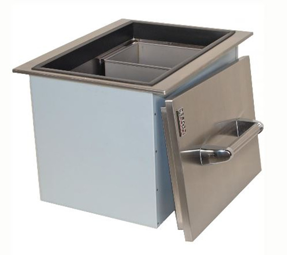 Lion L5312 Stainless Steel Drop In Ice Bin With Condiment Tray