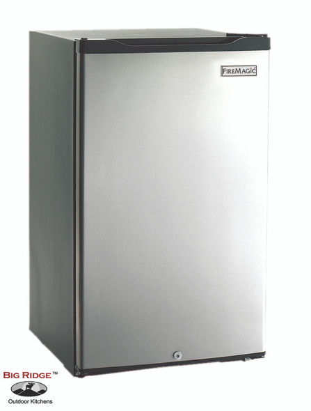 Fire Magic 3598 4.2 Cu. Ft. Compact Below Counter Refrigerator - Stainless Steel Door / Black Cabinet 1