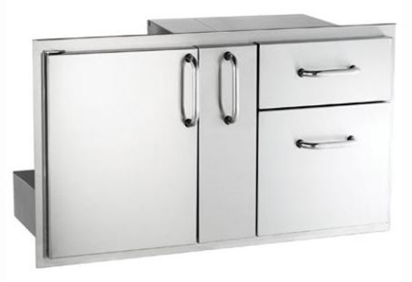 Fire Magic 33816S Select 36-Inch Access Door With Platter Storage & Double Drawer