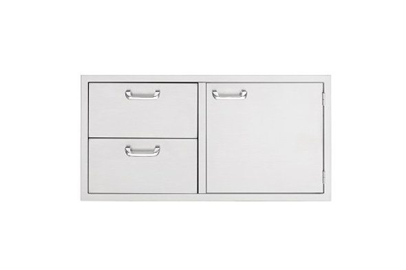 Sedona By Lynx LSA636 36-Inch Access Door & Fully Enclosed Double Drawer Combo