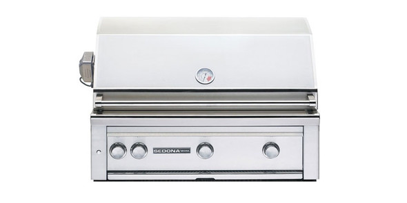 Sedona By Lynx L600R 36-Inch Built-In BBQ Gas Grill With Three Stainless Steel Burners & Rotisserie