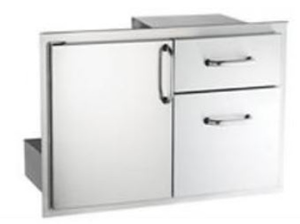 AOG 18-30-SSDD 30-Inch Access Door & Double Drawer Combo