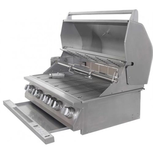 Lion 90814 + 53861  40-Inch Stainless Steel Stand Alone Propane Or Natural Gas Grill With Premium Cart