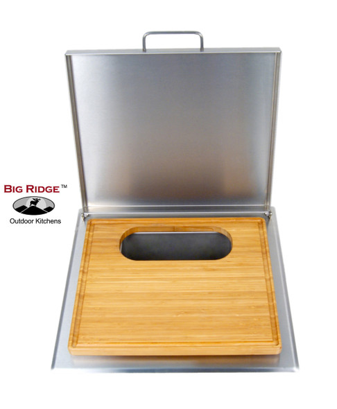 Fire Magic 53816 Cut And Clean Combo Trash Chute With Cutting Board