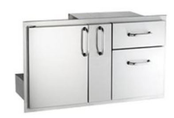 AOG 18-36-SSDD 36-Inch Access Door With Platter Storage And Double Drawer