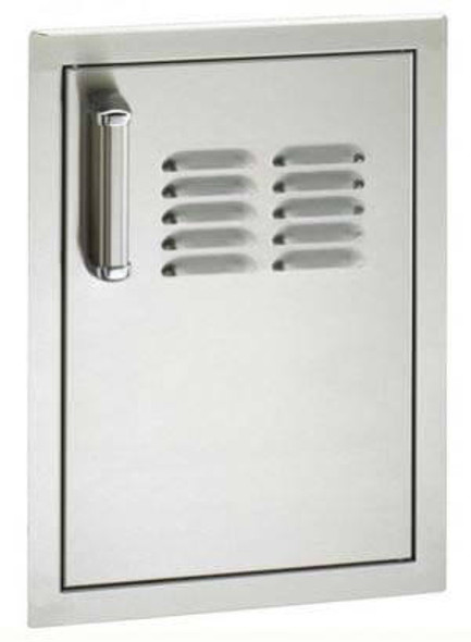 Fire Magic 53820SC-TR Premium Flush Mount 14 Inch Right Hinged Single Access Door W/Tank Tray And Louvers