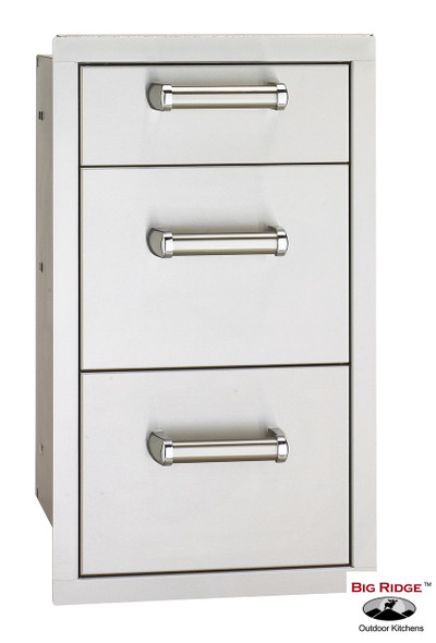 Fire Magic 53803SC Premium Flush Mount 14 Inch Triple Access Drawer