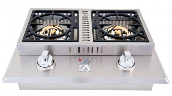 Lion L1707 Or L1634 Stainless Steel Drop-In Double Side Burner-Propane Or Natural Gas