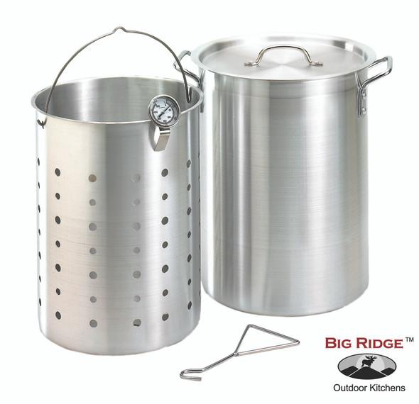 Fire Magic 3570 26 Quart Aluminum Turkey Fryer Pot With Basket & Thermometer