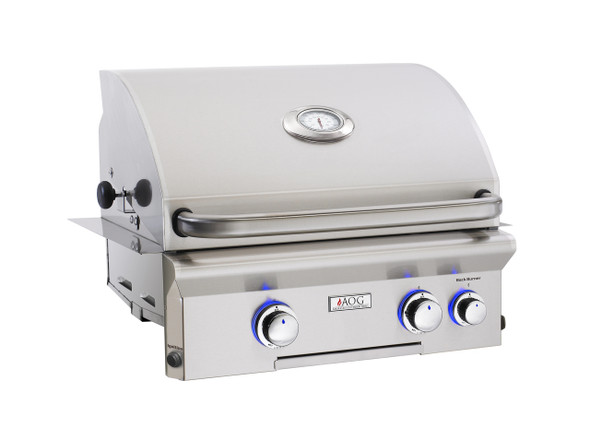 AOG 24NBL Grill L-Series 24-Inch Built-In Gas Grill With Rotisserie & Interior Halogen Lighting