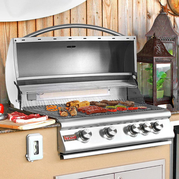 Blaze BLZ-4 32 Inch 4 Burner Natural Or Propane Gas Grill