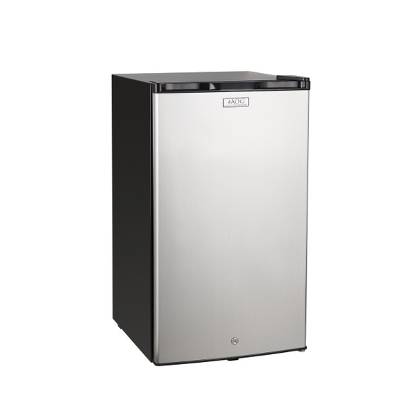 AOG REF-21 4.0 Cu. Ft. Compact Below Counter Refrigerator - Stainless Steel Door / Black Cabinet