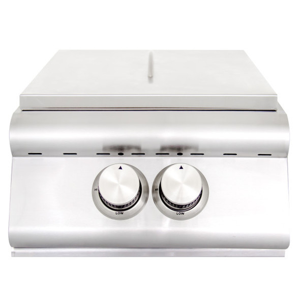 Blaze BLZ-PBLTE Built-In Gas High Performance Power Burner W/ Wok Ring & Stainless Steel Lid