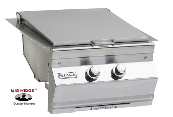 Fire Magic 3288L-1 Aurora Built-In Gas Double Searing Station / Side Burner