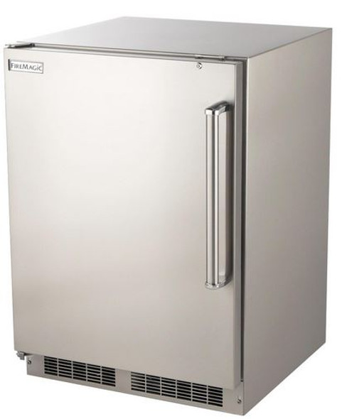 Fire Magic 3589-DL 24-Inch 6.5 Cu. Ft. Left Hinged Outdoor Built-In Stainless Steel Refrigerator