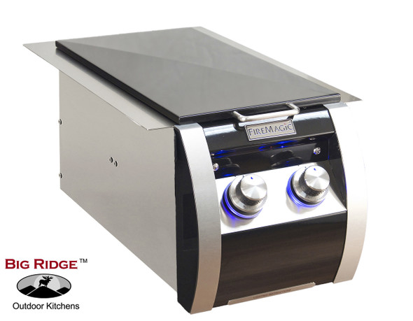 Fire Magic 32814H Echelon Black Diamond Gas Built-In Double Side Burner