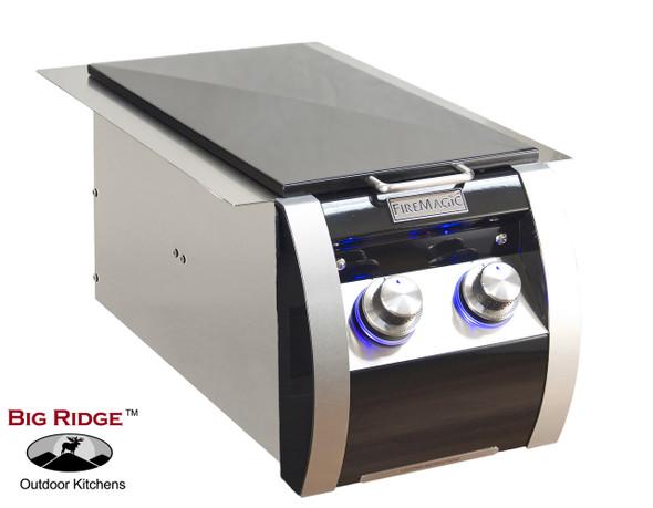 Fire Magic 32814H Echelon Black Diamond Gas Built-In Double Side Burner