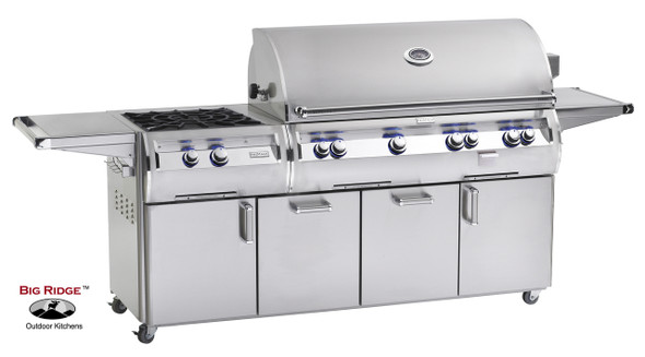 Fire Magic E1060s-4E1N-51 Echelon Diamond 48-Inch Gas Grill With Power Side Burner, Wood Chip Smoker Drawer, & Rotisserie Backburner On Cart + Optional FREE Infrared Burner